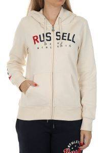 ΖΑΚΕΤΑ RUSSELL ATHLETIC STARS ZIP THROUGH HOODY ΕΚΡΟΥ
