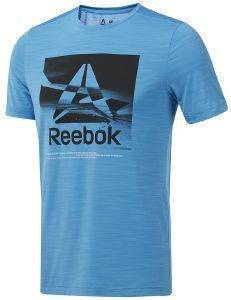 ΜΠΛΟΥΖΑ REEBOK SPORT WORKOUT READY ACTIVCHILL GRAPHIC TEE ΣΙΕΛ (XL)