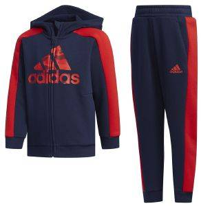 ΦΟΡΜΑ ADIDAS PERFORMANCE GRAPHIC HOODIE SET ΜΠΛΕ ΣΚΟΥΡΟ (98 CM)