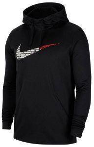 ΦΟΥΤΕΡ NIKE THERMA FLEECE PULLOVER HOODIE GRAFIX ΜΑΥΡΟ (M)