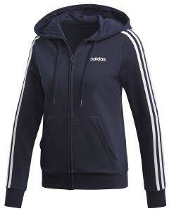 ΖΑΚΕΤΑ ADIDAS PERFORMANCE ESSENTIALS 3-STRIPES HOODIE ΜΠΛΕ ΣΚΟΥΡΟ