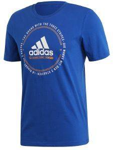 ΜΠΛΟΥΖΑ ADIDAS PERFORMANCE MUST HAVES EMBLEM TEE ΜΠΛΕ ΡΟΥΑ (L)