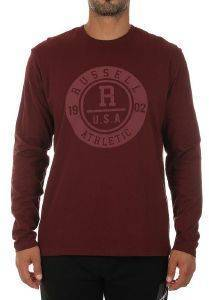 ΜΠΛΟΥΖΑ RUSSELL ATHLETIC TONAL L/S CREWNECK TEE ΜΠΟΡΝΤΩ (M)