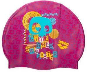 ΣΚΟΥΦΑΚΙ ARENA PRINT JR POOL CAP COOL GIRLS ΡΟΖ