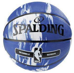 ΜΠΑΛΑ SPALDING NBA MARBLE SERIES BLUE WITH WHITE (7)