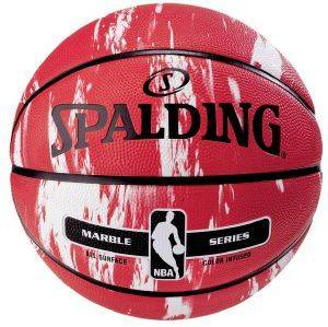 ΜΠΑΛΑ SPALDING NBA MARBLE SERIES RED WITH WHITE (7)
