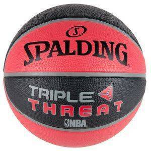 ΜΠΑΛΑ SPALDING NBA TRIPLE THREAT COLOUR RUBBER ΚΟΚΚΙΝΗ/ΜΑΥΡΗ (3)
