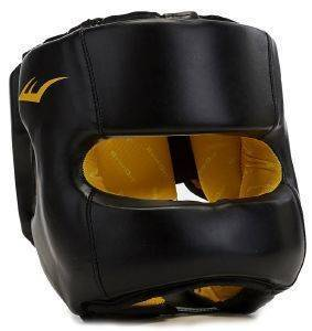 ΚΑΣΚΑ EVERLAST ELITE HEADGEAR WITH SYNTHETIC LEATHER ΜΑΥΡΗ