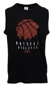 ΦΑΝΕΛΑΚΙ RUSSELL ATHLETIC BASKET BALL SKYLINE SINGLET ΜΑΥΡΟ
