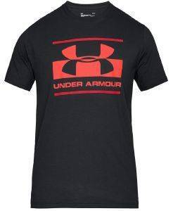 ΜΠΛΟΥΖΑ UNDER ARMOUR UA BLOCKED SPORTSTYLE GRAPHIC T-SHIRT ΜΑΥΡΗ