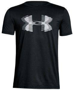 ΜΠΛΟΥΖΑ UNDER ARMOUR UA TECH BIG LOGO SOLID S/S SHIRT ΜΑΥΡΗ