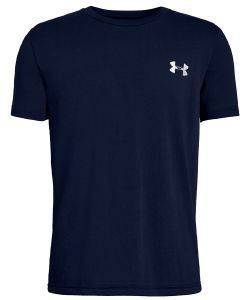 ΜΠΛΟΥΖΑ UNDER ARMOUR UA BACK BOX GRAPHIC S/S SHIRT ΜΠΛΕ ΣΚΟΥΡΟ