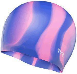 ΣΚΟΥΦΑΚΙ TYR MULTI-COLOR SILICONE ADULT SWIM CAP ΜΩΒ/ΡΟΖ