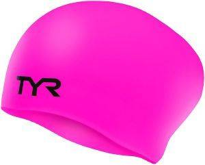 ΣΚΟΥΦΑΚΙ TYR LONG HAIR WRINKLE-FREE SILICONE ADULT SWIM CAP ΡΟΖ