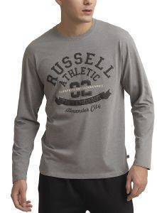 ΜΠΛΟΥΖΑ RUSSELL ATHLETIC TRACK & FIELD L/S TEE ΓΚΡΙ (L)