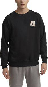 ΜΠΛΟΥΖΑ RUSSELL ATHLETIC 'R' CREWNECK RAGLAN SWEATSHIRT ΜΑΥΡΗ
