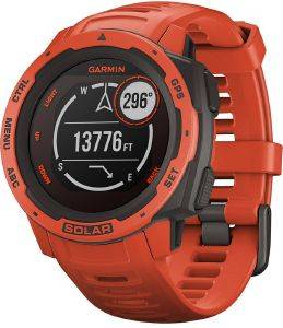 ΡΟΛΟΪ GPS GARMIN INSTINCT SOLAR FLAME RED