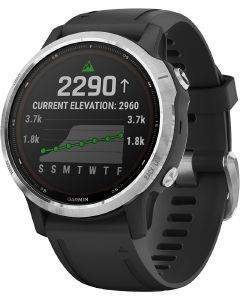 ΡΟΛΟΪ GARMIN FENIX 6S SOLAR SILVER WITH BLACK BAND