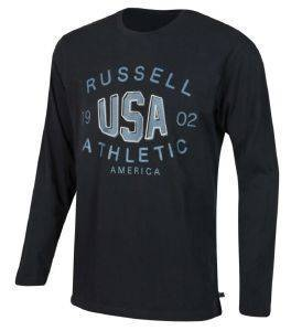 ΜΠΛΟΥΖΑ RUSSELL ATHLETIC USA L/S CREWNECK TEE ΜΑΥΡΗ