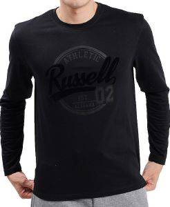 ΜΠΛΟΥΖΑ RUSSELL ATHLETIC 02 L/S CREWNECK TEE ΜΑΥΡΗ