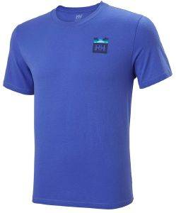 ΜΠΛΟΥΖΑ HELLY HANSEN NORD GRAPHIC HH T-SHIRT ΜΠΛΕ ΡΟΥΑ