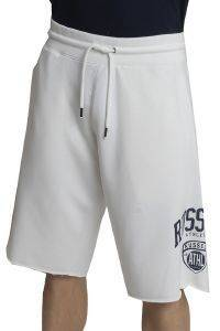 ΒΕΡΜΟΥΔΑ RUSSELL ATHLETIC COLLEGIATE RAW EDGE SHORTS ΛΕΥΚΗ