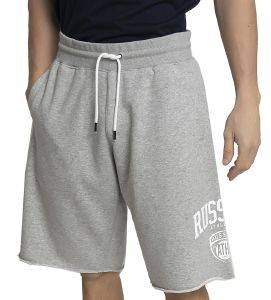 ΒΕΡΜΟΥΔΑ RUSSELL ATHLETIC COLLEGIATE RAW EDGE SHORTS ΓΚΡΙ