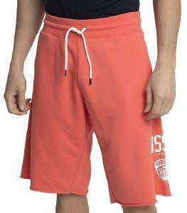 ΒΕΡΜΟΥΔΑ RUSSELL ATHLETIC COLLEGIATE RAW EDGE SHORTS ΚΟΡΑΛΙ