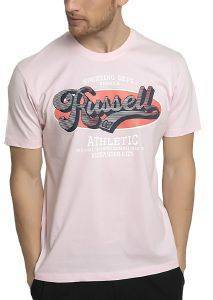 ΜΠΛΟΥΖΑ RUSSELL ATHLETIC OVAL RUSSELL S/S CREWNECK TEE ΡΟΖ