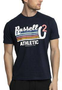 ΜΠΛΟΥΖΑ RUSSELL ATHLETIC STRIPED 02 S/S CREWNECK TEE ΜΠΛΕ ΣΚΟΥΡΟ