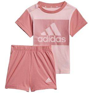 ΣΕΤ ADIDAS PERFORMANCE ESSENTIALS TEE AND SHORTS SET ΡΟΖ