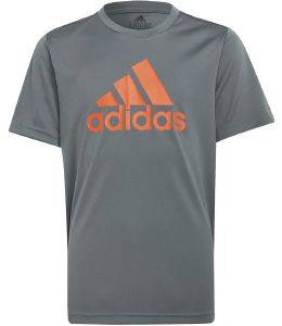 ΜΠΛΟΥΖΑ ADIDAS PERFORMANCE DESIGNED TO MOVE BIG LOGO TEE ΓΚΡΙ