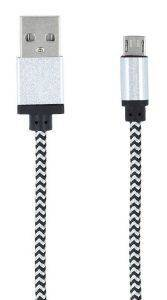 FOREVER BRAIDED MICRO USB CABLE WHITE