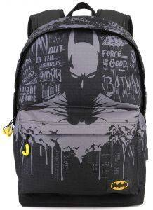 ΣΑΚΙΔΙΟ ΠΛΑΤΗΣ ΓΥΜΝΑΣΙΟΥ KARACTERMANIA BATMAN MULTICOLORED HS BACKPACK GOTHAM 44X30X20CM