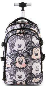 ΤΡΟΛΕΥ-ΤΣΑΝΤΑ ΔΗΜΟΤΙΚΟΥ KARACTERMANIA CLASSIC MICKEY BLACK TROLLEY TRAVEL BACKPACK OH BOY 48X30X20CM