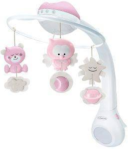 ΜΟΥΣΙΚΟ ΚΟΥΝΙΑΣ INFANTINO PROJECTOR 3 IN 1 MUSICAL MOBILE PINK